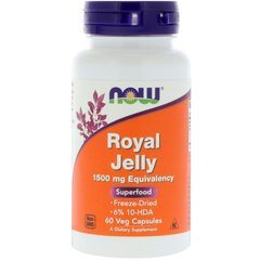 Now Foods NOW-02565 Маточное молочко, Royal Jelly, Now Foods, 1500 мг, 60 гелевых капсул (NOW-02565)
