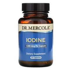 Dr. Mercola MCL-01614 Йод, Iodine, Dr. Mercola, 1,5 мг, 30 капсул (MCL-01614)