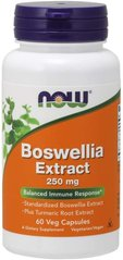 Now Foods NOW-04613 Босвеллия, экстракт, Boswellia Extract, Now Foods, 250 мг, 60 вегетарианских капсул (NOW-04613)