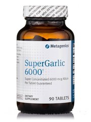 Metagenics MET-66782 Чеснок, SuperGarlic 6000, Metagenics, 90 таблеток (MET-66782)