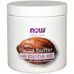 Now Foods NOW-07760 Масло какао с маслом жожоба (Cocoa Butter, Jojoba Oil), Now Foods, Solutions, 192 мл, (NOW-07760)