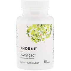 Thorne Research THR-00633 Никотинамид рибозид, Nicotinamide Riboside, Thorne Research, 250 мг, 60 капсул, (THR-00633)