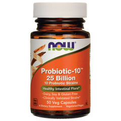 Now Foods NOW-02937 Пробиотик-10, Probiotic, Now Foods, 25 млрд КОЕ, 30 капсул (NOW-02937)