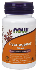 Now Foods NOW-03260 Пикногенол, Pycnogenol, Now Foods, 30 мг, 30 капсул., (NOW-03260)