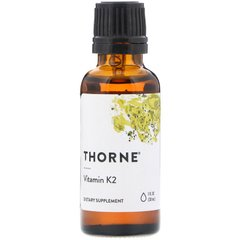 Thorne Research THR-17001 Витамин К2 ( Vitamin K2), Thorne Research, жидкий, 30 мл, (THR-17001)