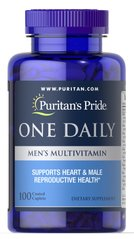 Puritan's Pride PTP-13046 Мультивитамины для мужчин, One Daily Men's Multivitamin, Puritan's Pride, 100 капсул (PTP-13046)