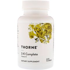 Thorne Research THR-00661 Витамин 3-К, 3-K Complete, Thorne Research, 60 капсул (THR-00661)