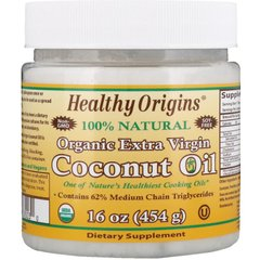 Healthy Origins HOG-67003 Кокосовое масло, Coconut Oil, Healthy Origins, органик, 454 г (HOG-67003)