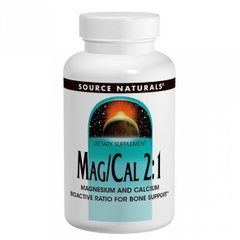 Source Naturals SNS-02060 Магний Кальций 2:1, 370 мг, Source Naturals, 90 капсул (SNS-02060)