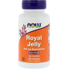 Now Foods NOW-02550 Маточное молочко, Royal Jelly, Now Foods, 100 гелевых капсул, (NOW-02550)