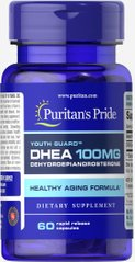 Puritan's Pride PTP-33012 ДГЭА, DHEA, Puritan's Pride, 100 мг, 60 гелевых капсул (PTP-33012)