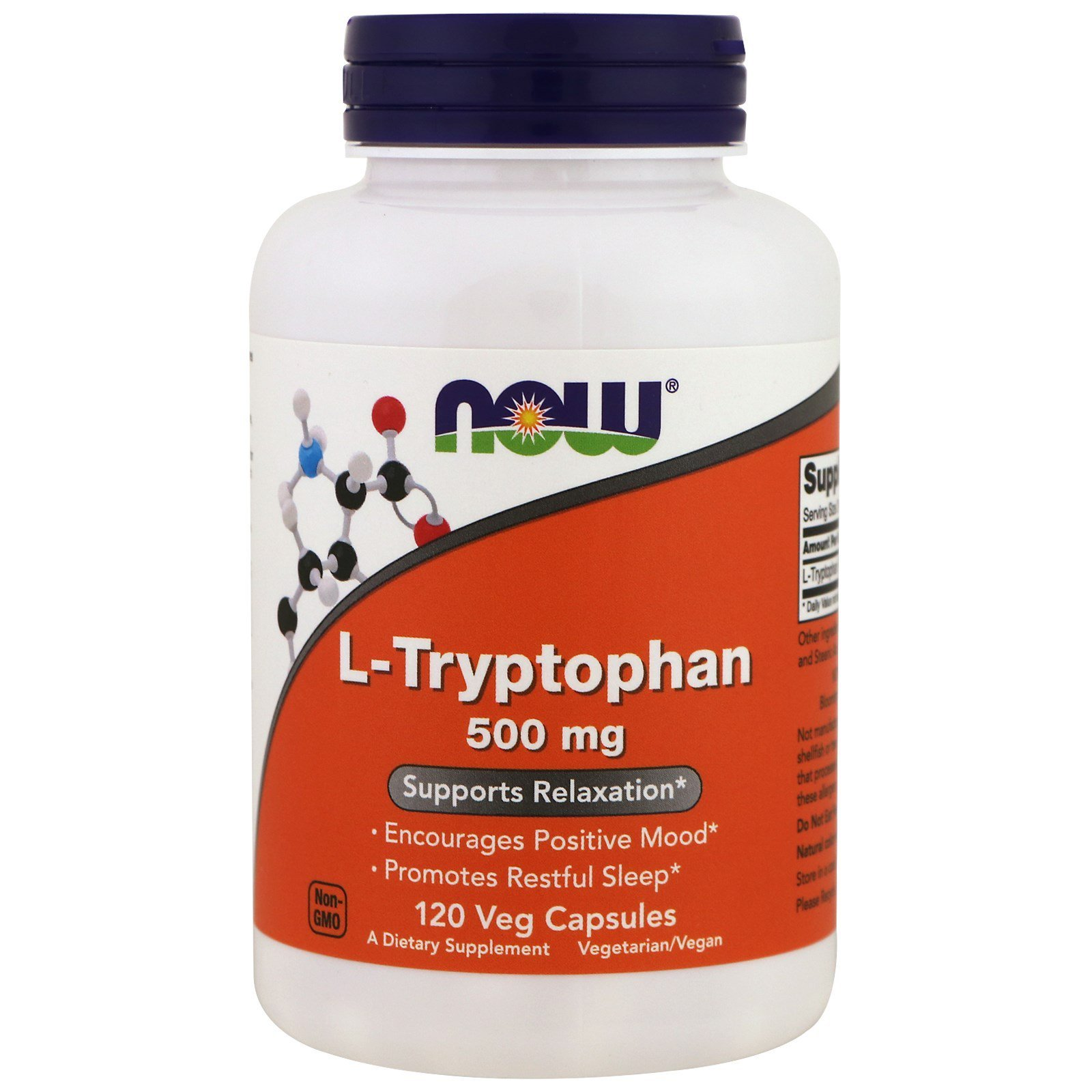 Now Foods NOW-00167 Триптофан, L-Tryptophan, Now Foods, 500 мг, 120 капсул, (NOW-00167)