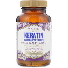 ReserveAge Nutrition REA-01569 Кератин для мужчин ReserveAge Nutrition, Keratin Booster for Men, 60 Veggie Caps, (REA-01569)