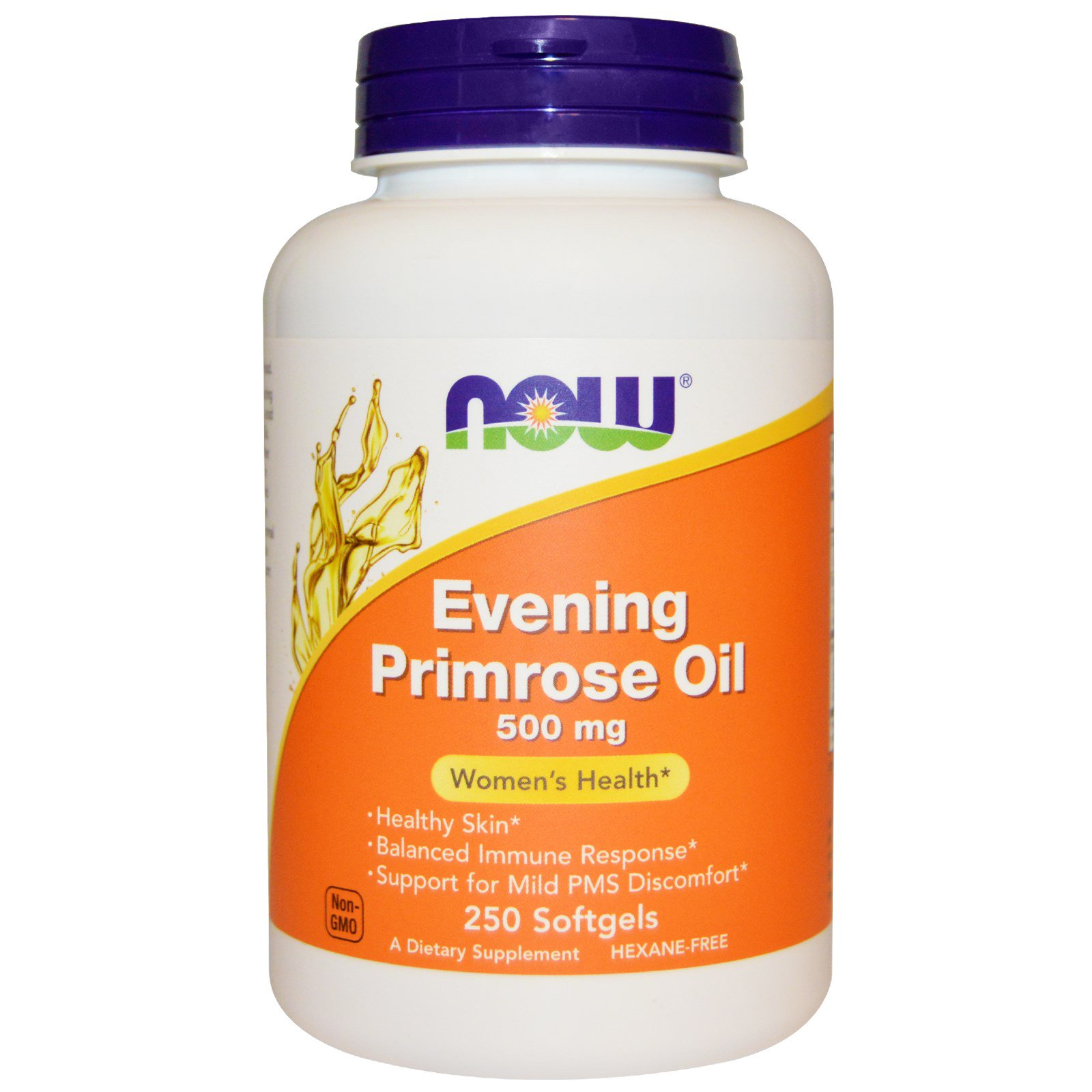Now Foods NOW-01752 Масло вечерней примулы, Evening Primrose Oil, Now Foods, 500 мг 250 капсул, (NOW-01752)