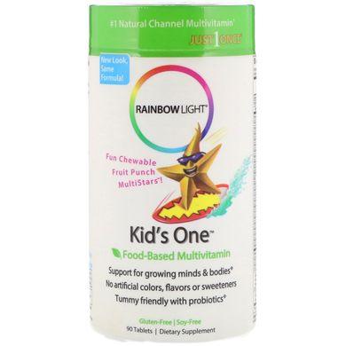 Витамины для детей, Rainbow Light, 90 жеват. табл., (RLT-10982)