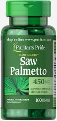 Puritan's Pride PTP-13531 Со пальметто, Saw Palmetto, Puritan's Pride, 450 мг, 100 капсул (PTP-13531)
