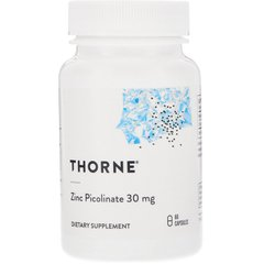 Thorne Research THR-22002 Цинк пиколинат усиленный, Zinc Picolinate, Thorne Research, 60 капсул, (THR-22002)