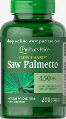 Puritan's Pride PTP-13533 Со пальметто, Saw Palmetto, Puritan's Pride, 450 мг, 200 капсул (PTP-13533)