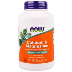 Now Foods NOW-01243 Кальций и магний, Calcium & Magnesium, Now Foods, 1:1, 227 г, (NOW-01243)