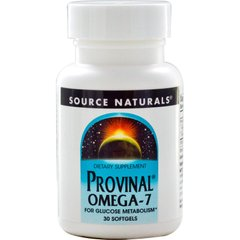 Source Naturals SNS-02550 Омега-7, Provinal Omega-7, Source Naturals, 30 капсул (SNS-02550)