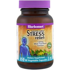 Bluebonnet Nutrition BLB2012 Комплекс для снятия стресса, Targeted Choice Stress Relief, Bluebonnet Nutrition, 30 вегетарианских капсул (BLB-02012)