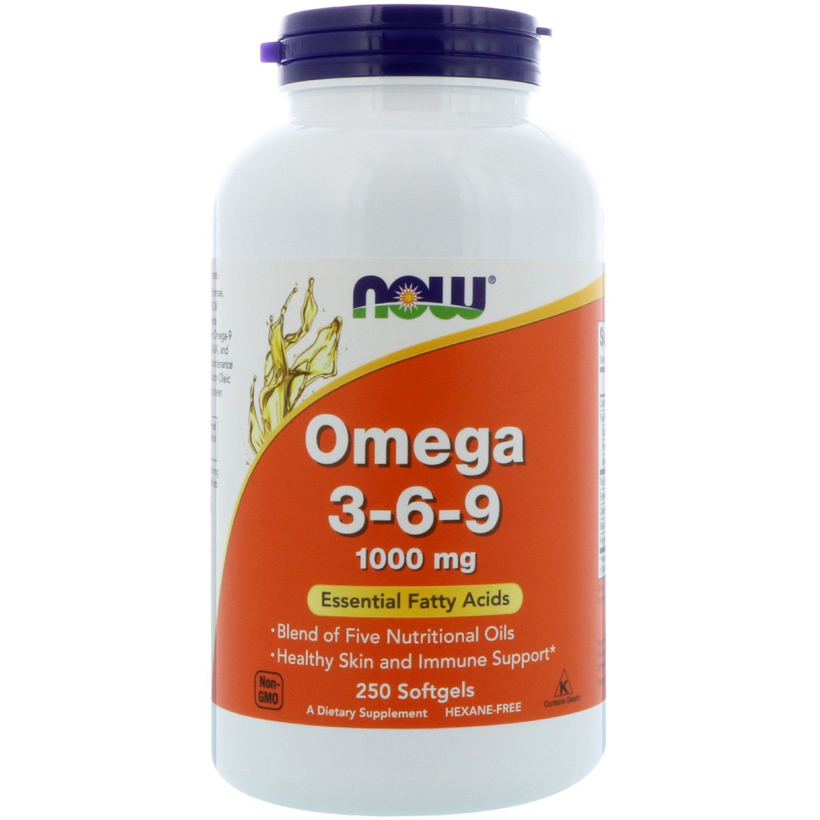 Now Foods NOW-01837 Омега 3 6 9, Omega 3-6-9, Now Foods, 1000 мг, 250 гелевых капсул, (NOW-01837)