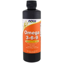 Now Foods NOW-01838 Омега 3 6 9 (Omega 3-6-9), Now Foods, 473 мл., (NOW-01838)