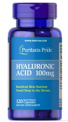 Puritan's Pride PTP-23409 Гиалуроновая кислота Puritan's Pride, Hyaluronic Acid 100 мг 120 капсул (PTP-23409)
