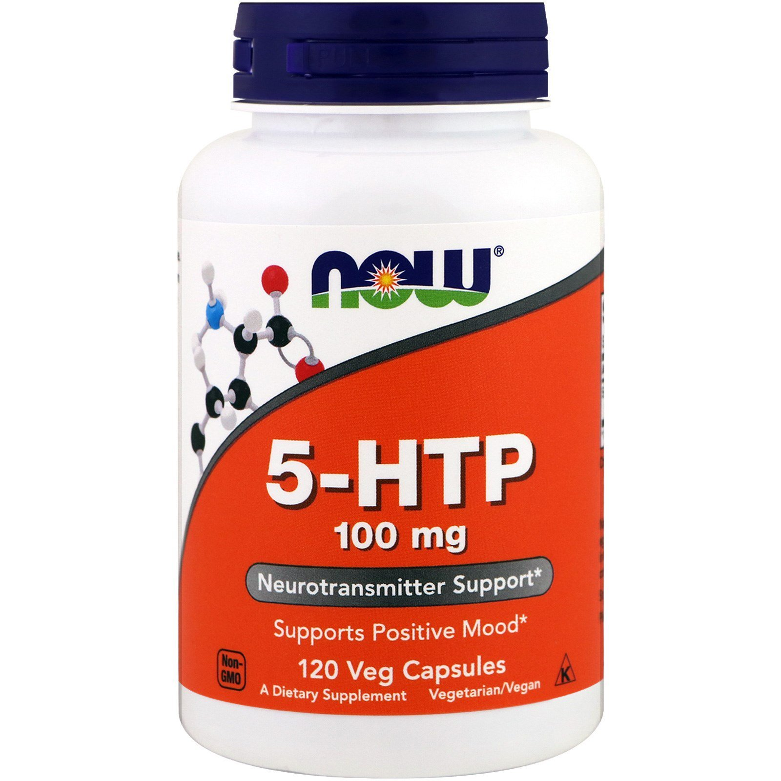 Now Foods NOW-00106 5-HTP 5-гидрокситриптофан, Now Foods, 100 мг, 120 капсул, (NOW-00106)